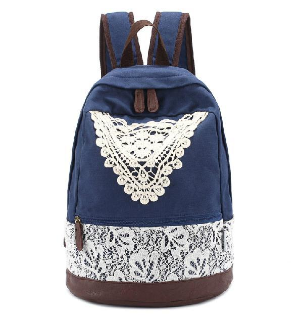 Cute lace hollow out fresh backpack bag
