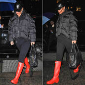 boots,rihanna,fall outfits,jacket