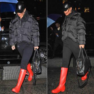 boots rihanna fall outfits jacket