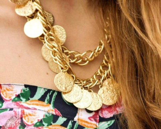 jewels necklace collar gold