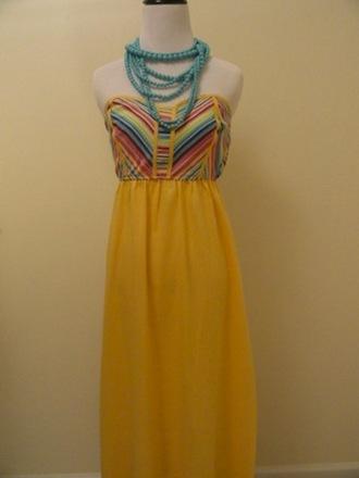 dress print dress maxi maxi dress yellow dress