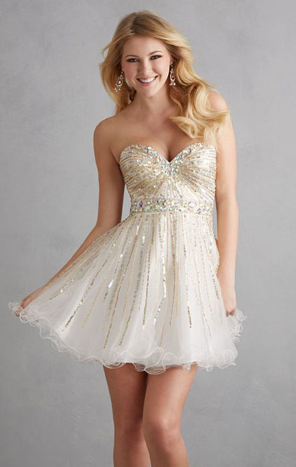 strapless short dress short dress cheap sequin dress a line prom gowns