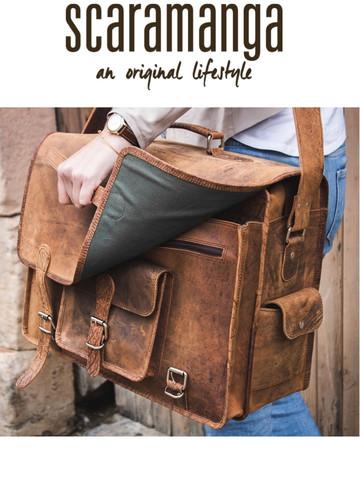 cacc8a0c0cb7 Scaramanga Mens Vintage Leather Large Flight Bag Style 14003