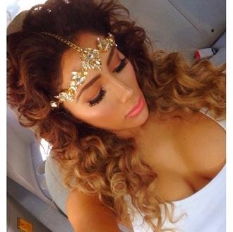 hair accessory glitter miss nikki baby bedazzled head jewels headpiece headchain sparkle