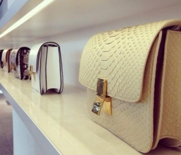 bag purse leather crocodile like