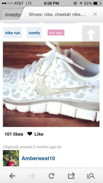 shoes grey nike #universe #cute #running #shoes leopard print bedazzled