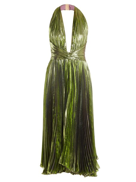 Maria Lucia Hohan dress midi dress pleated midi green