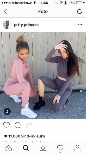 jumpsuit pink two piece pantsuits