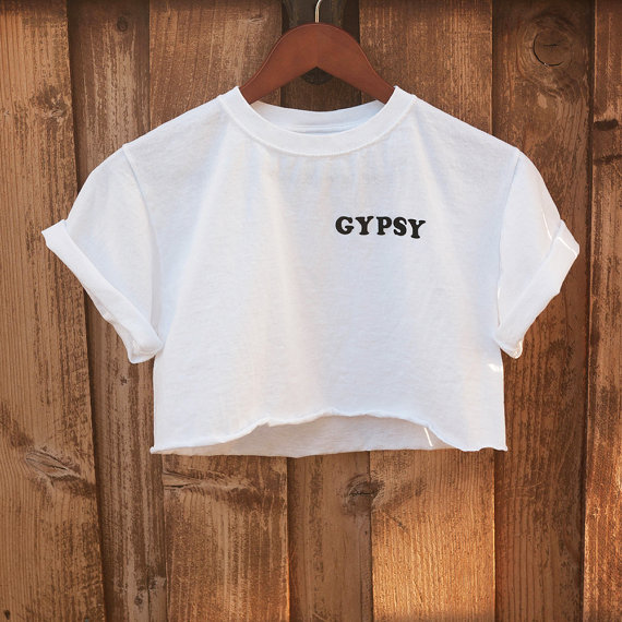 f69e68f47dd Gypsy Shirt \\ Boho Shirt \\ Crop Top \\ Cropped t shirt \\ boxy top \\ DIY  ...
