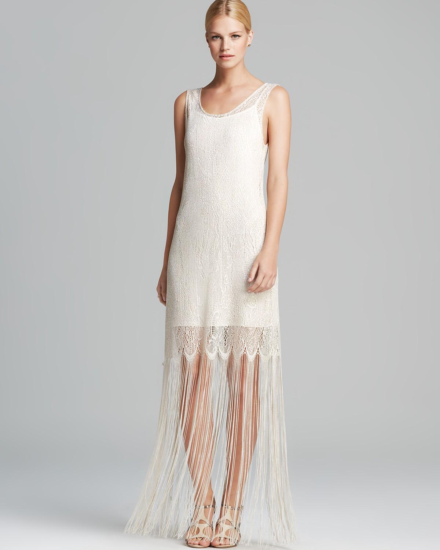 Alice   Olivia Dress - Lena Crochet Fringe | Bloomingdale's