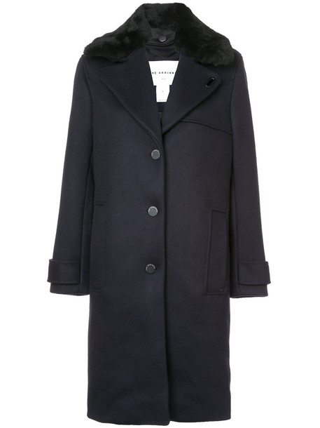 the Arrivals coat women blue wool