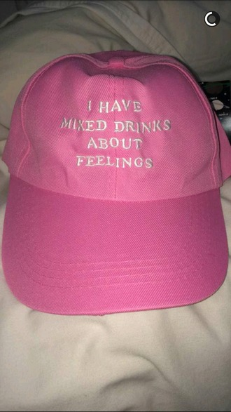 hat fashion pink quote on it cap