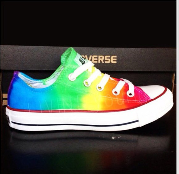 rainbow converse shoes converse with bows