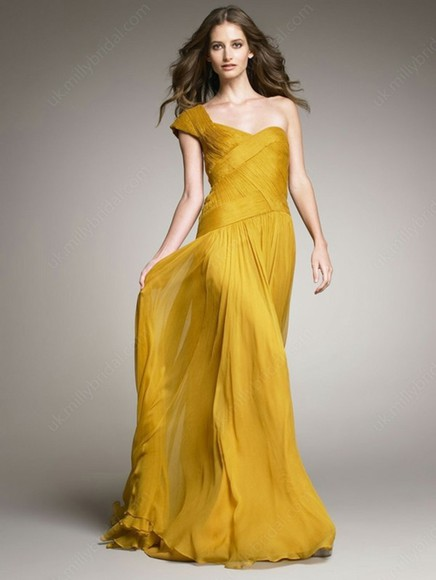 dress one shoulder sheath column chiffon