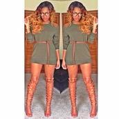 dress,shoes,belt,tan,gladiators,knee high gladiator sandals