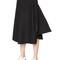 High waist wool felt skirt