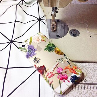 phone cover yeah bunny iphone floral print bee pineapple