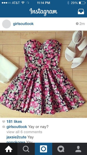 dress fashion floral dress