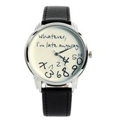 jewels,watch,whatever,whatever i'm late anyway,whatever i'm late anyway watch,whatever color,whatever colour,black n white,ziz watch,ziziztime