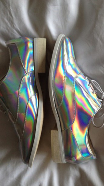 shoes oxfords metallic