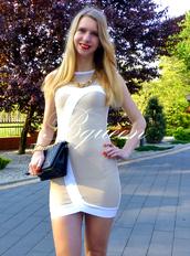 dress,bqueen,fashion,sexy,girl,lady,party,chic,elegant,bandage,bandage dress,white,mesh,gauze