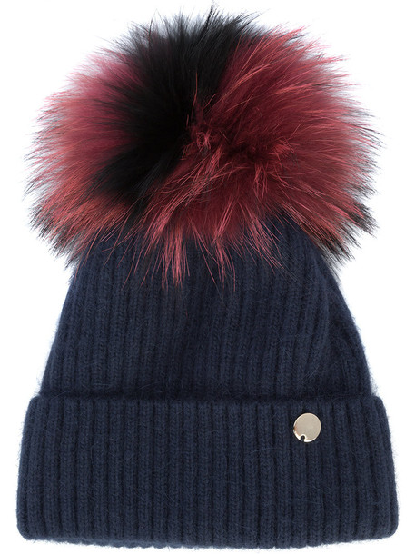 ef8f2200eca fur women beanie pom pom beanie red hat