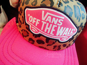 hat,snapback,vans,pink,leopard print