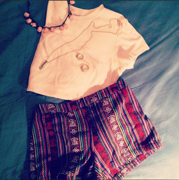shorts aztec clothes aztec short shirt