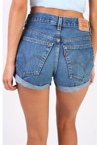 Vintage Levi's High Waisted Hotpant Stone Wash Sexy Denim Shorts | eBay
