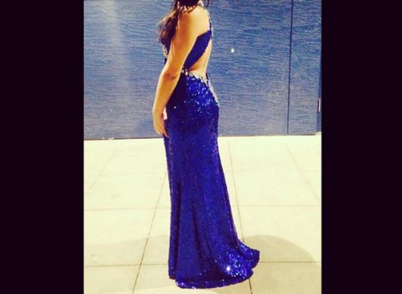 sequin dress long prom dresses royal blue dress open back dress silver