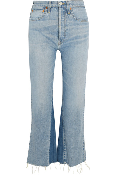 RE/DONE - Originals cropped high-rise flared jeans