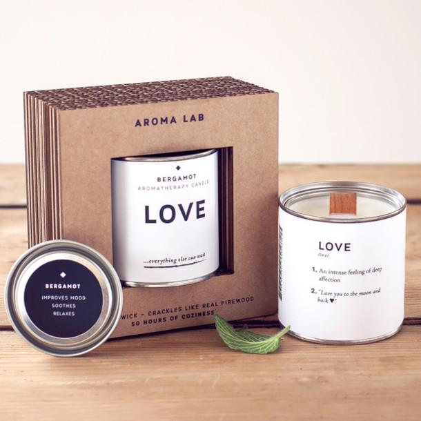 Home Accessory Aroma Lab Bergamot Candle Love Candle Husband