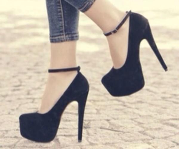 shoes heels black classic shoes high heels black shoes basic class chic high heels