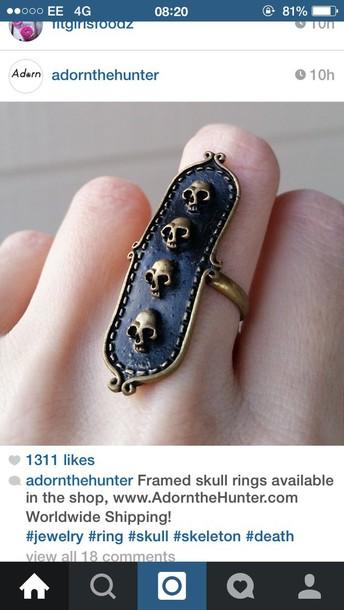 jewels skull ring