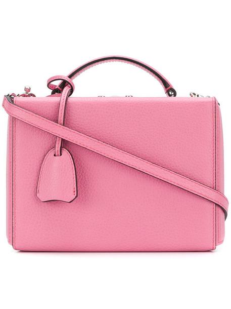 satchel women leather purple pink bag