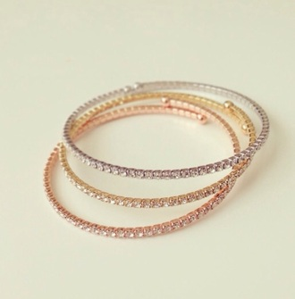 jewels bracelets bangle gold silver bronze diamonds