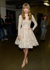 dress,lace long sleeve,taylor swift dress