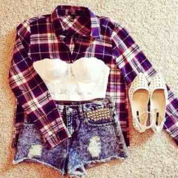 shoes top shorts blouse