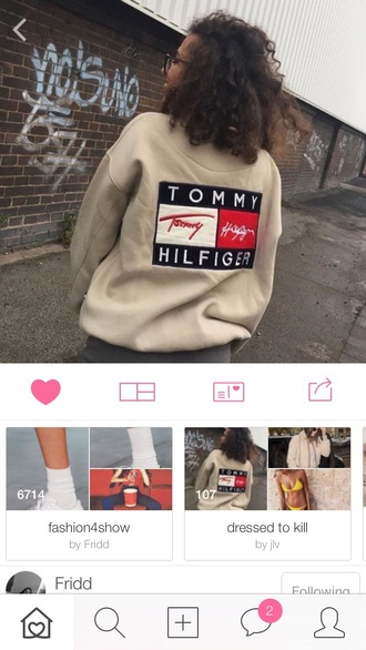 tommy hilfiger tumblr jacket nude jacket sweater beige sweater sweatshirt vintage sweatshirt tommy hilfiger sweatshirt jumper nude vintage beige fashion white tommy hilfiger jacket cool top tan tank top
