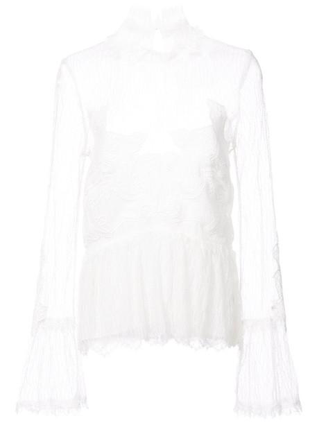 Jonathan Simkhai blouse women lace white top