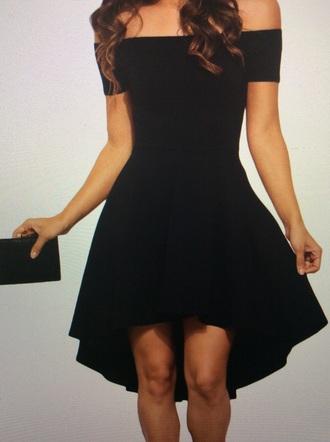 dress fit and flare dress off the shoulder dress black dress