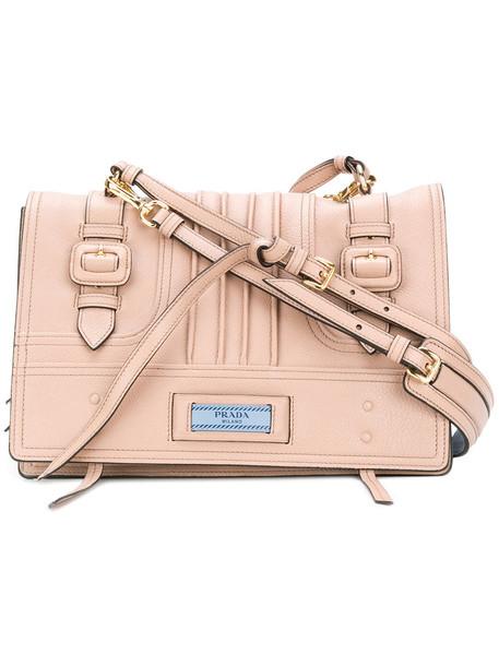 Prada women bag shoulder bag leather nude