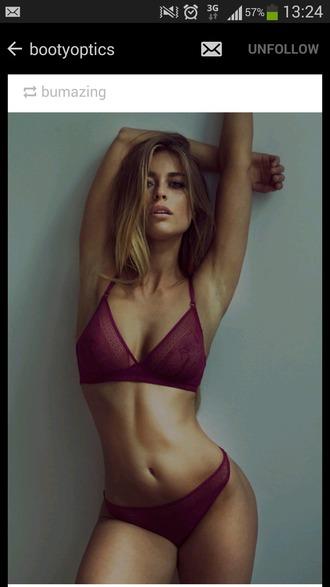 underwear burgundy bralette lace bralette