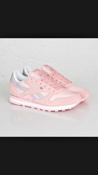 shoes sneakers reebok classic Reebok love girly pink shoes