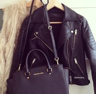 jacket cuir noir looks asome