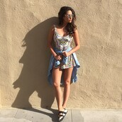 romper,shirt,shay mitchell,instagram,flats,mules,shoes,slide shoes