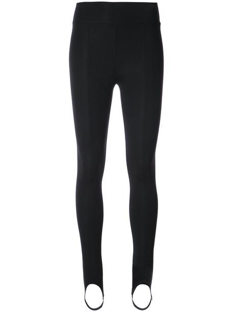 Helmut Lang leggings women classic spandex cotton black pants