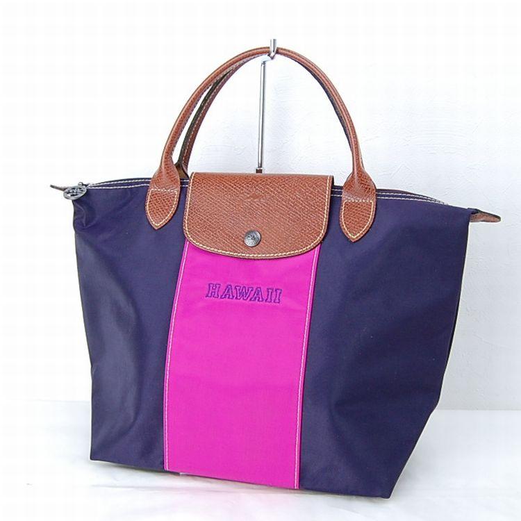 authentic longchamp tote bag made in france dark blue nylon 4095 ebay. Black Bedroom Furniture Sets. Home Design Ideas