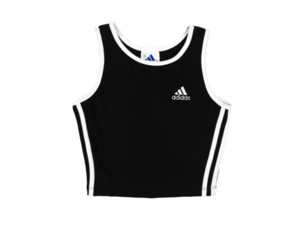tank top adidas black shirt crop tops black and white adidas originals adidas crop top