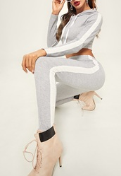 jumpsuit,girly,girl,girly wishlist,cropped,crop,cropped sweater,hoodie,grey,white,joggers